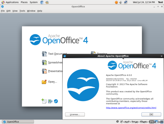 Apache OpenOffice 4 running on CentOS 6