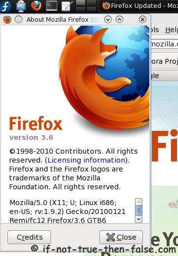 Install Mozilla Firefox 3 6 (3 6 13) on Fedora Linux – If Not True