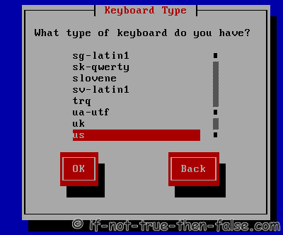 Select keyboard type