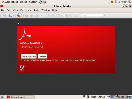 Adobe Reader running on CentOS 5.10 64-bit
