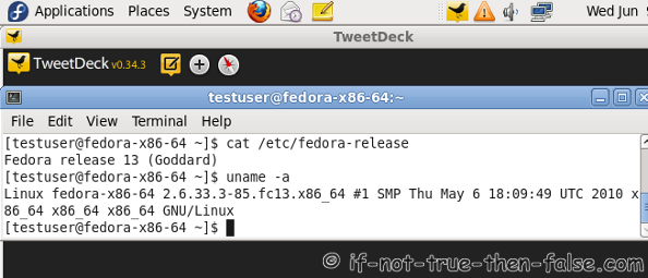 Fedora 13 x86_64 Adobe Air 2 TweetDeck