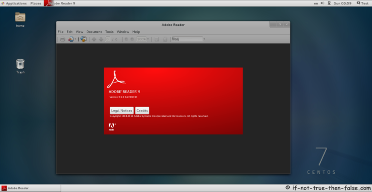 Acrobat Reader Running on CentOS 7