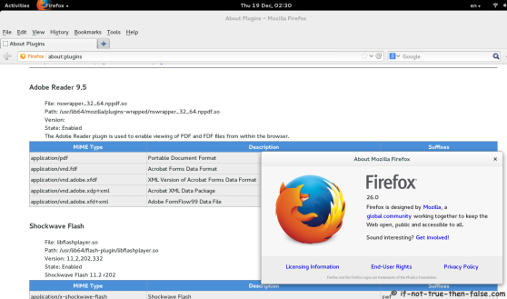 Adobe Flash Player on Firefox 26 Fedora 20