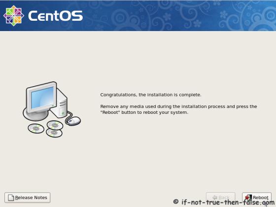 CentOS 5.10 Installation complete