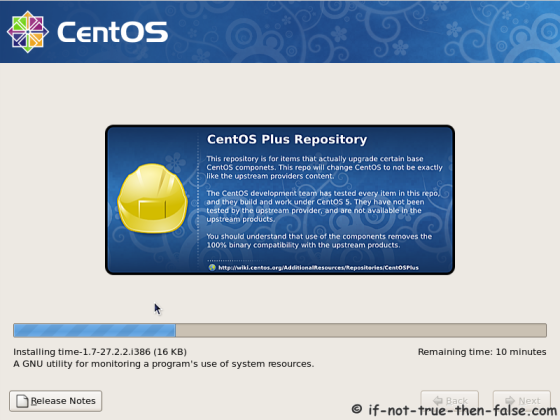 CentOS 5.11 Installing selected packages