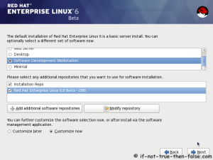 17. Select softwares to install and enable repositories