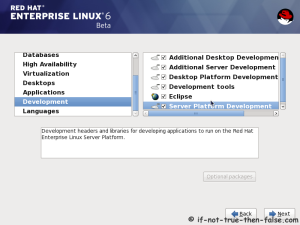 18. Customize package selection - Select set of Development tools like Eclipse IDE