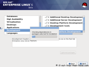 19. Checking dependencies for installation