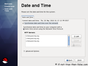 27. Setup date and time and keep up-to-date with NTP