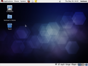 29. Red Hat (RHEL) 6 Gnome Desktop, empty and default look