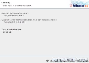 NetBeans 6.9.1 IDE Installation Summary