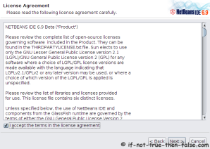 Accept NetBeans 6.9.1 License