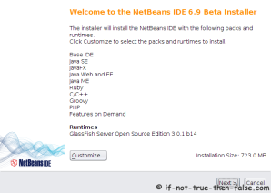 NetBeans IDE 6.9.1 Welcome Screen