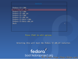 3. BFO boot menu - Select install image