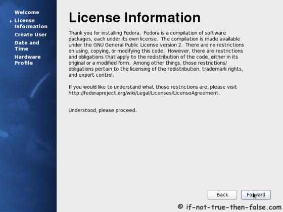 Accecpt Fedora License