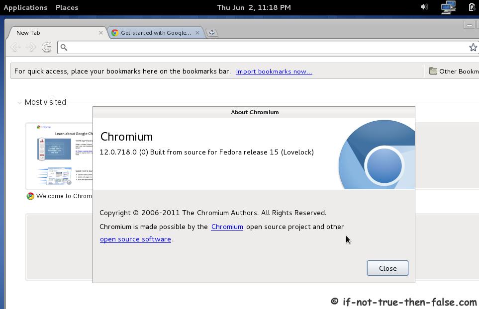 Install Chromium (dev) Browser on Fedora 16/15/14/13 Using