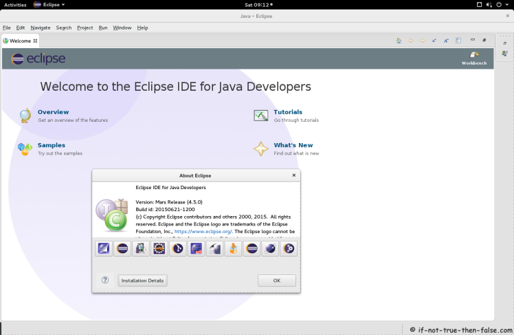 Eclipse Mars 4.5 Running on Fedora 22