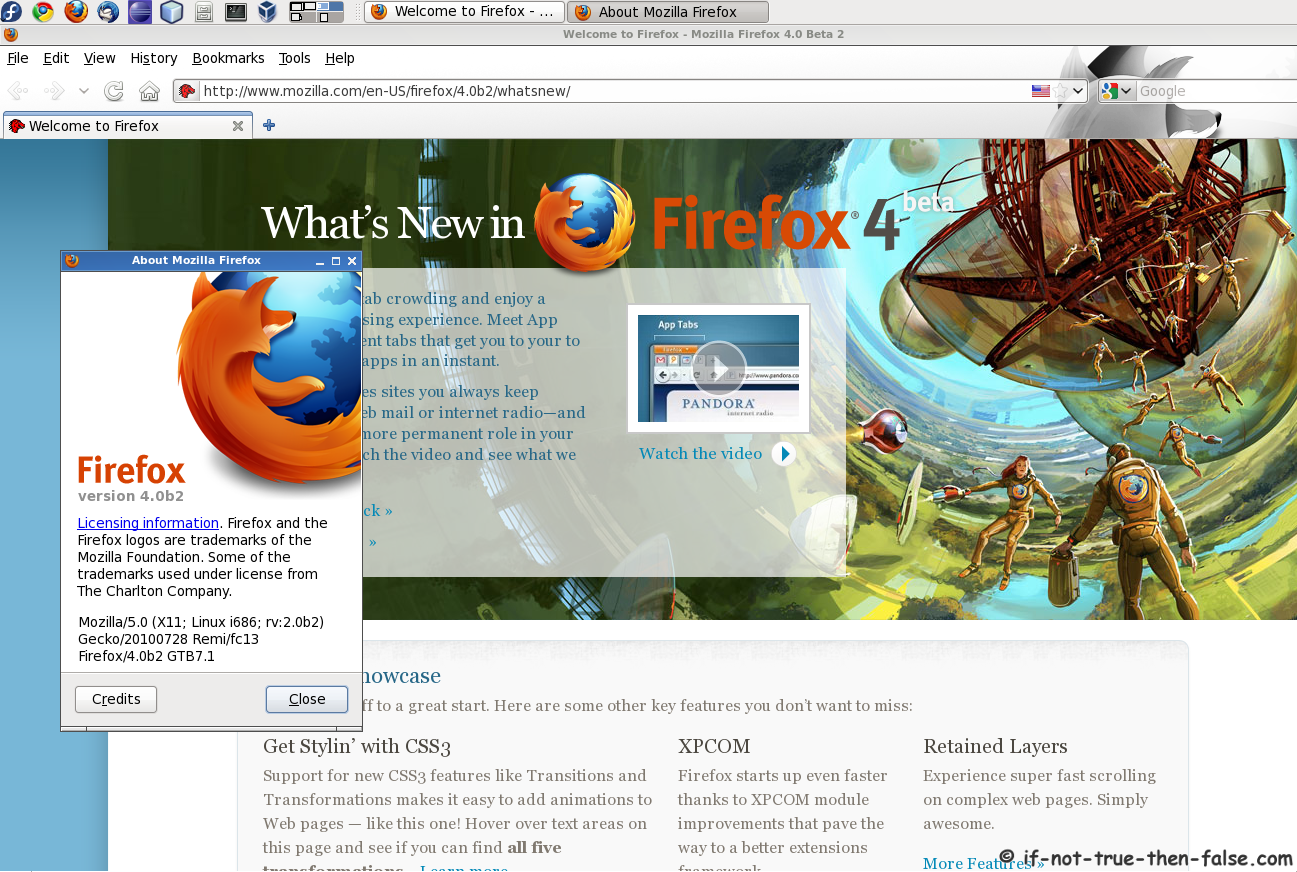 Install Firefox 4 on Fedora 14, Fedora 13/12 – Screenshots – If Not
