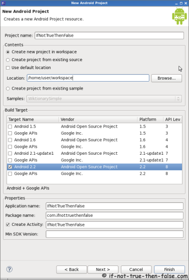 Eclipse Create New Android Project