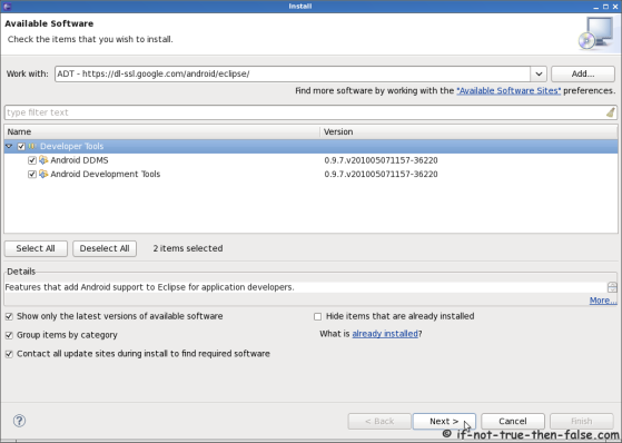 Install Android Development Tools ADT on Eclipse