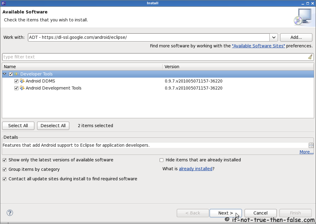 Android SDK and Eclipse ADT on Fedora 16/15, CentOS/RHEL 6