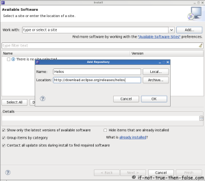 Eclipse SDK 3.6 Add Helios Repository
