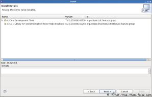 Eclipse SDK 3.6 Check Install Details