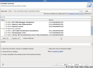 Eclipse SDK 3.6 Install CDT (C/C++ Development Tooling) plugin