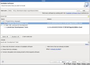 Eclipse SDK 3.6 Install JavaScript Development Tools Plugin