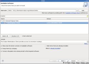 Eclipse SDK 3.6 Install Markeplace Client Plugin