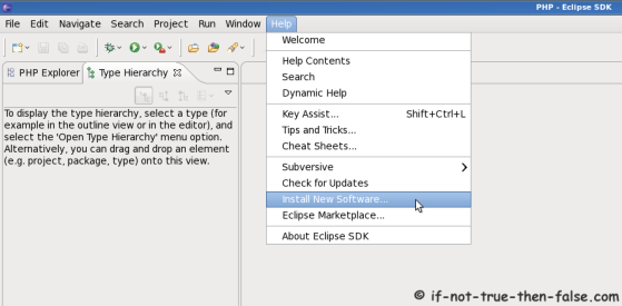 Eclipse SDK 3.6 Install New Software