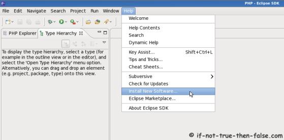 Eclipse SDK 3.6 Install New Software