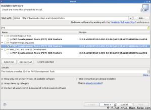 Eclipse SDK 3.6 Install PDT (PHP Development Tools)
