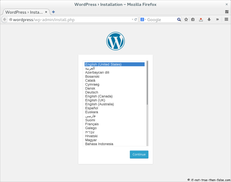 WordPress 4.0 Select Language