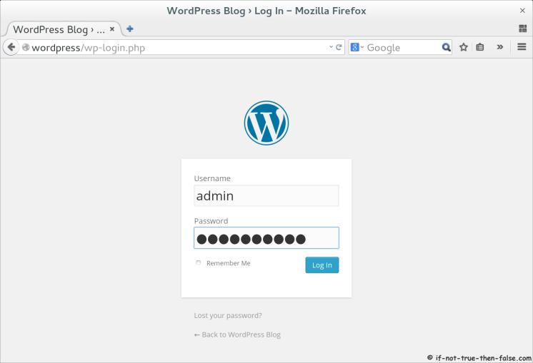WordPress 4.0 Login