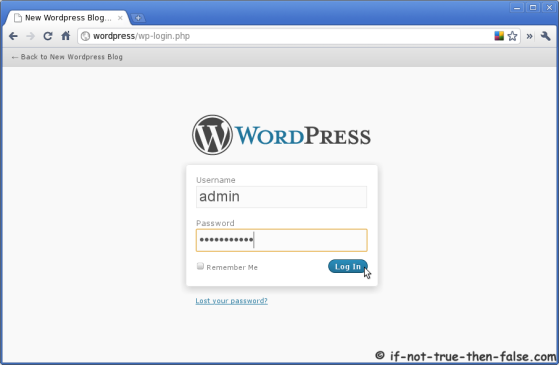 Wordpress Log In