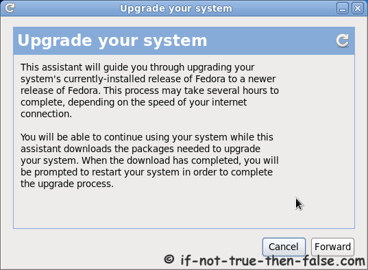 Fedora Preupgrade upgrade your system