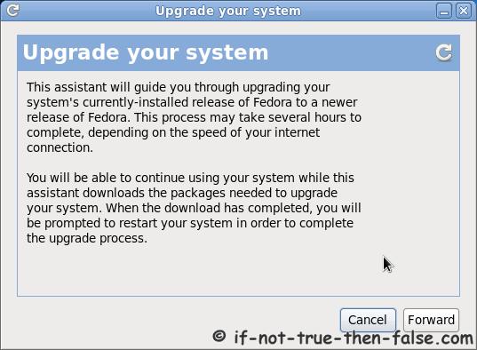 Fedora Preupgrade upgrade your system