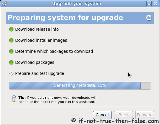Fedora Preupgrade prepare and test upgrade