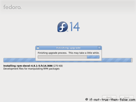 Finishing Fedora 14 upgrade process