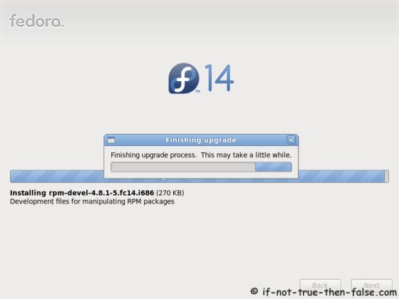 Finishing Fedora 14 upgrade process