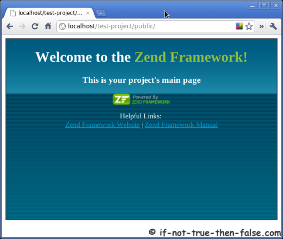 Welcome To The Zend Framework Project Main Page