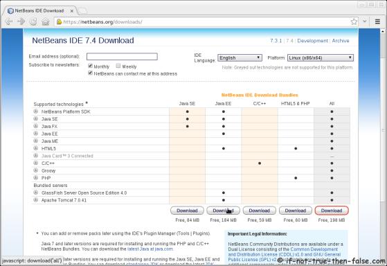 NetBeans IDE 7.4 Download