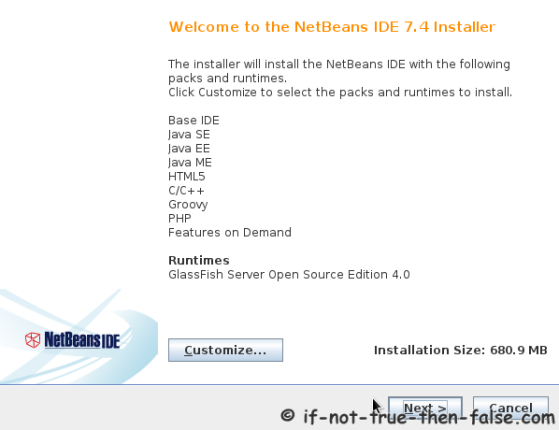 NetBeans IDE 7.4 Welcome Screen
