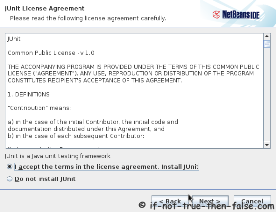 NetBeans IDE 7.4 Junit License Agreement