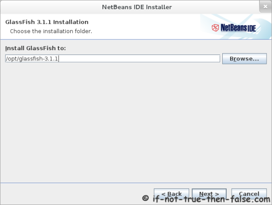 Netbeans 7.1 Select GlassFish installation location