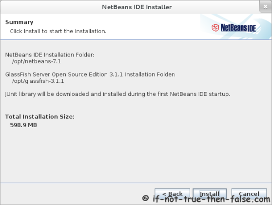 NetBeans 7.1 Installation Summary