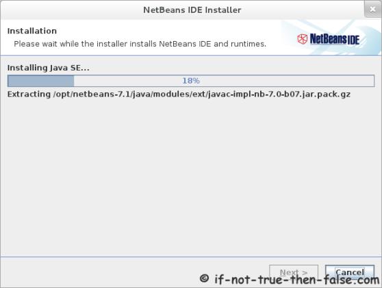 Installing NetBeans 7.1 IDE