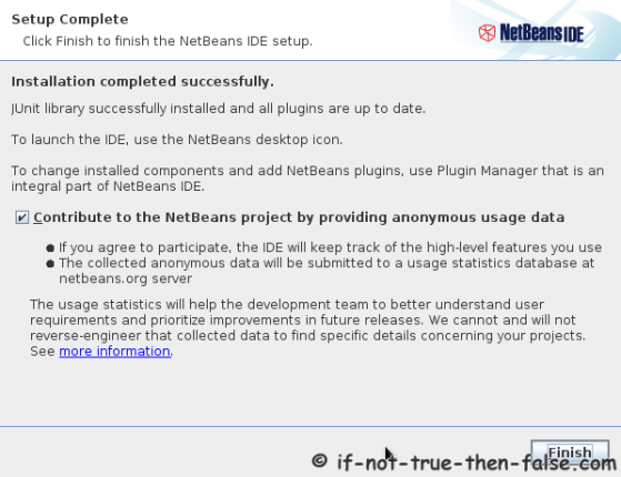 Netbeans IDE 7.4 Installation Complete