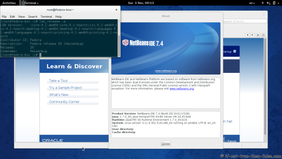 Netbeans IDE 7.4 Running on Fedora 20
